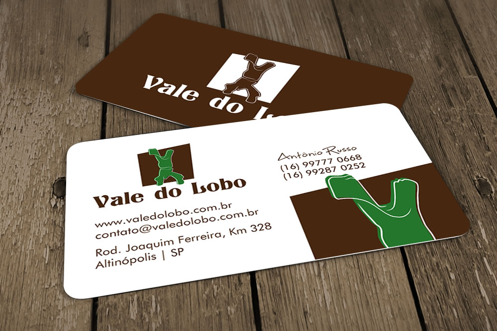 identidade visual do vale do lobo